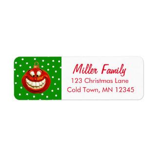 Etiqueta Ornamento alegre del navidad