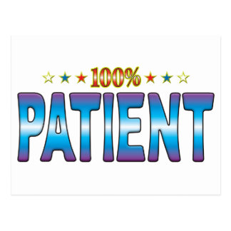 Etiqueta paciente v2 de la estrella tarjetas postales