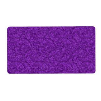 Etiqueta Paisley púrpura