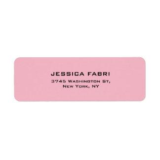 Etiqueta Palidezca - de moda moderno elegante llano rosado