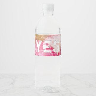 Etiqueta Para Botella De Agua 13:35 de Juan