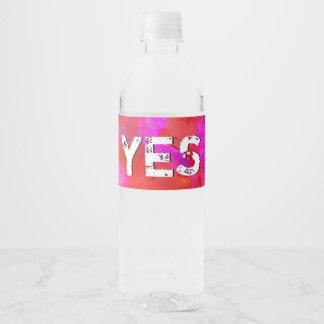 Etiqueta Para Botella De Agua 35:9 del salmo