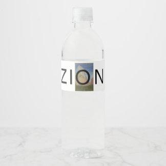 Etiqueta Para Botella De Agua ABH Zion