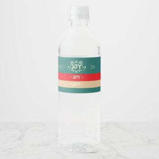 Etiqueta Para Botella De Agua ¡Alegría! Moderno, bloque del color
