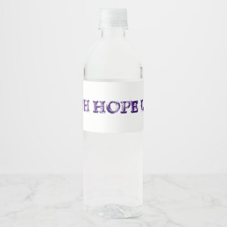Etiqueta Para Botella De Agua Amor de la esperanza de la fe