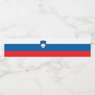 Etiqueta Para Botella De Agua Bandera de Eslovenia