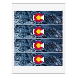 Etiqueta Para Botella De Agua Bandera de la circular de Colorado