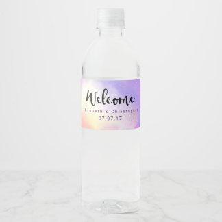 Etiqueta Para Botella De Agua Boda surrealista fresco de la recepción del diseño