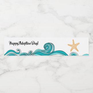 Etiqueta Para Botella De Agua Botella de agua feliz del día de la adopción