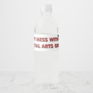 Etiqueta Para Botella De Agua Chica SUPERIOR de los artes marciales