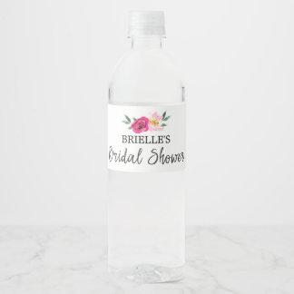Etiqueta Para Botella De Agua Ducha nupcial del cuento de hadas del ramo