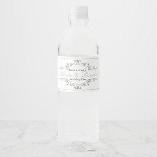 Etiqueta Para Botella De Agua El casarse