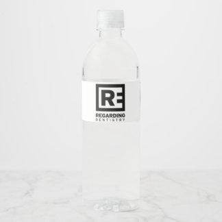 Etiqueta Para Botella De Agua En relación con la odontología - botella de agua