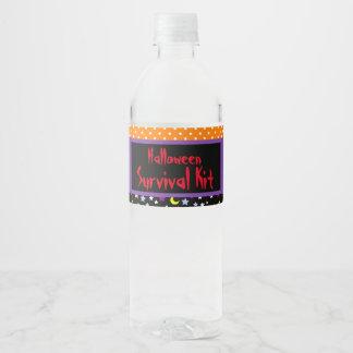 Etiqueta Para Botella De Agua Fiesta lindo del traje de Halloween de la momia