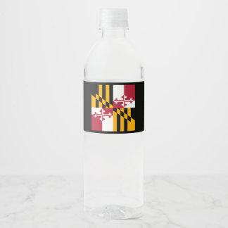 Etiqueta Para Botella De Agua Gráfico dinámico de la bandera del estado de