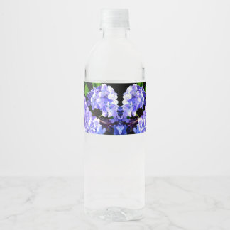 Etiqueta Para Botella De Agua Hydrangeas del bígaro