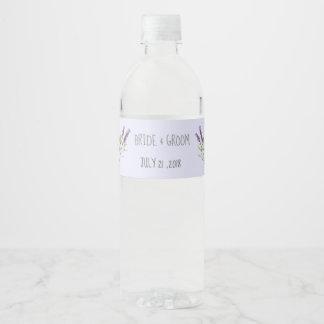 Etiqueta Para Botella De Agua Lavanda del vintage para los bodas