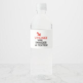 Etiqueta Para Botella De Agua Los vos de Imprimer diseñan en Français del ligne