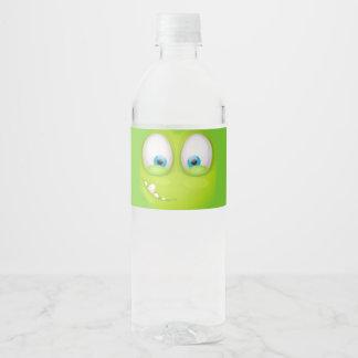 Etiqueta Para Botella De Agua Muglee verdoso - agua grande del ojo