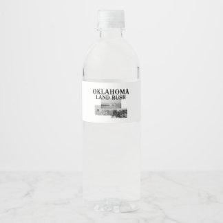 Etiqueta Para Botella De Agua Precipitación de la tierra de ABH Oklahoma