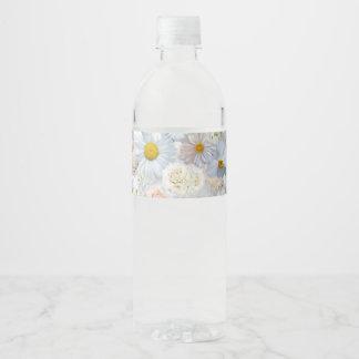 Etiqueta Para Botella De Agua Primavera nupcial del boda floral del ramo de las