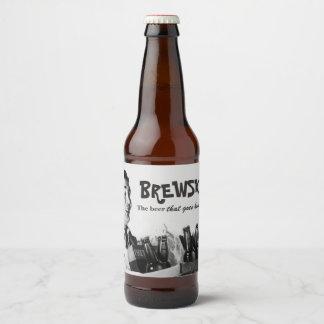 Etiqueta Para Botella De Cerveza Cerveza retra chistosa de los Diecinueve-años 50