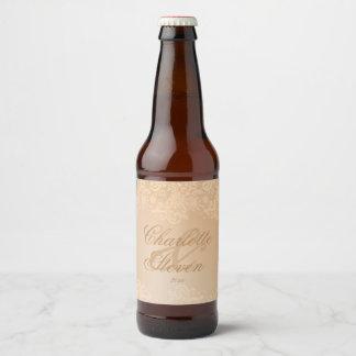 Etiqueta Para Botella De Cerveza Cordón del vintage y trullo de la antigüedad