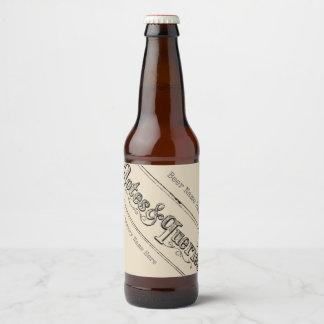 Etiqueta Para Botella De Cerveza El vintage observa y pregunta Typograph
