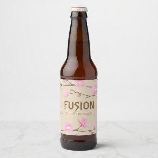 Etiqueta Para Botella De Cerveza Flor de cerezo - FUSIÓN
