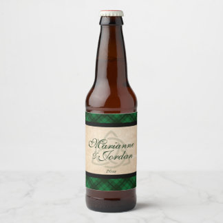Etiqueta Para Botella De Cerveza Tela escocesa céltica