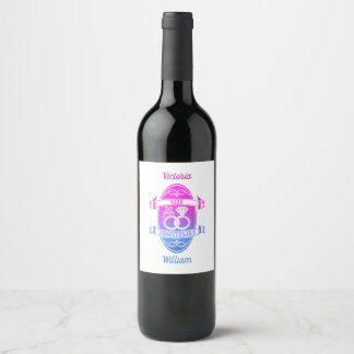 Etiqueta Para Botella De Vino 50 aniversario de boda tradicional del oro 50.o