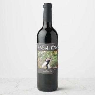 Etiqueta Para Botella De Vino Amor rústico y favor de encargo del boda de la