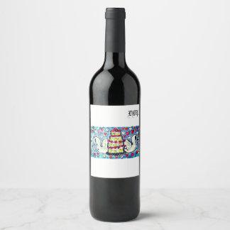 Etiqueta Para Botella De Vino Arte dos del pastel de bodas