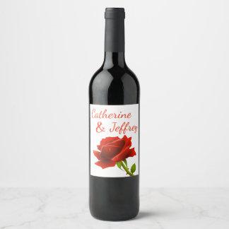 Etiqueta Para Botella De Vino Banquete de boda personalizado flor floral del