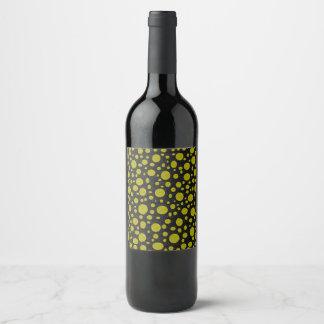 Etiqueta Para Botella De Vino Burbujas de oro