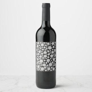 Etiqueta Para Botella De Vino Burbujas grises