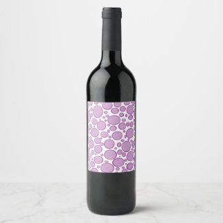 Etiqueta Para Botella De Vino Burbujas púrpuras aligeradas