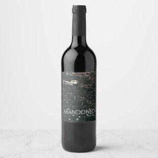Etiqueta Para Botella De Vino Campo blanco abandonado del camión del vintage de