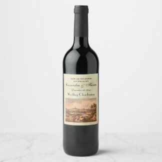 Etiqueta Para Botella De Vino Central Park antiguo #1, BG apenada #3