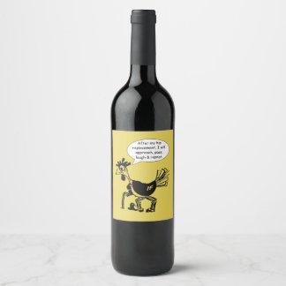 Etiqueta Para Botella De Vino Cirugía del reemplazo de la cadera - cita de la