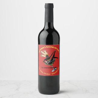 Etiqueta Para Botella De Vino Corista de la despedida de soltero de Las Vegas