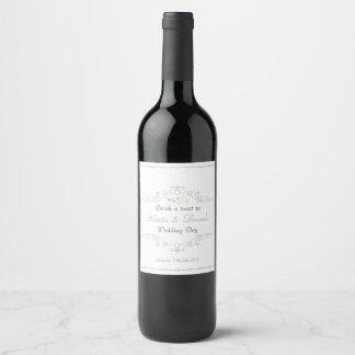 Etiqueta Para Botella De Vino Día de boda