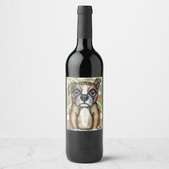 Etiqueta Para Botella De Vino Diseño del ejemplo del dogo