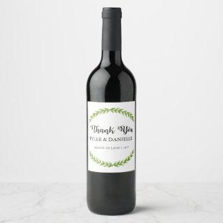 Etiqueta Para Botella De Vino El favor de la botella de vino del boda le