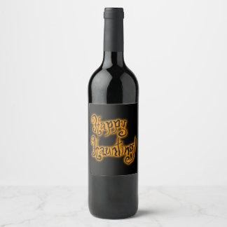 Etiqueta Para Botella De Vino ¡El frecuentar feliz! el | Halloween