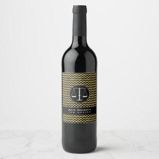 Etiqueta Para Botella De Vino Escalas elegantes de los galones de oro de la