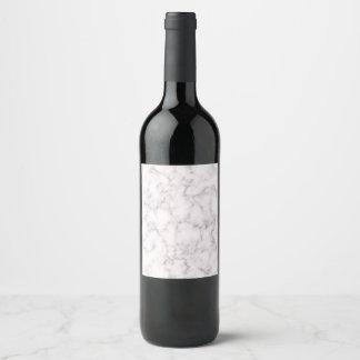 Etiqueta Para Botella De Vino Estilo de mármol elegante