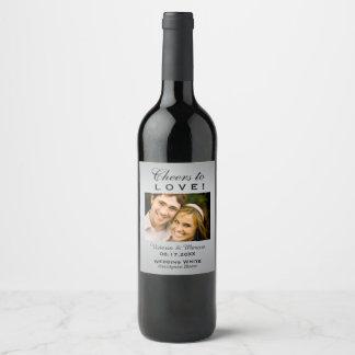 Etiqueta Para Botella De Vino Favor de la botella de vino de la foto de la bodas