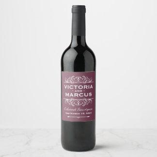 Etiqueta Para Botella De Vino Favor rojo de la botella de vino del boda de