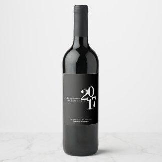 Etiqueta Para Botella De Vino Fecha moderna del boda de la tipografía
